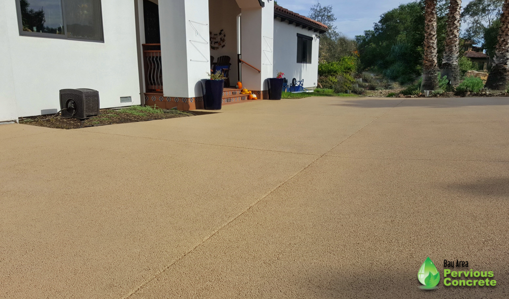 Portola Pervious Concrete Driveway - Los Altos Hills, CA