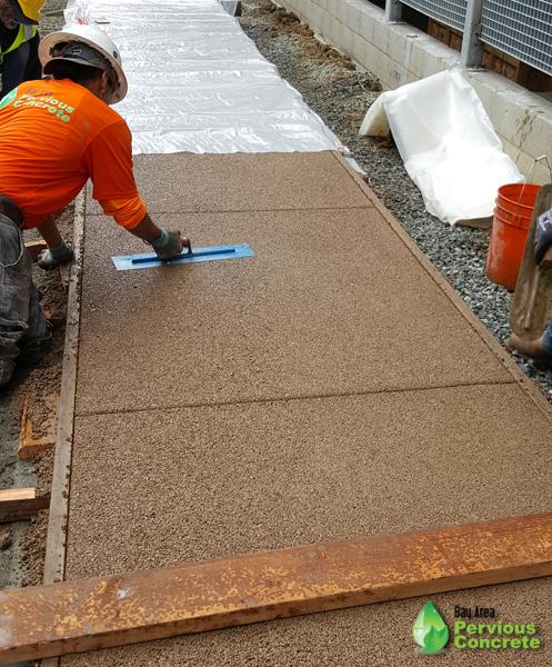 BAPC crew installing pervious concrete in El Cerrito, CA.