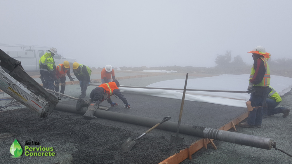 Bay Area Pervious Concrete-Mount Umunhum Summit-pervious concrete helicopter pad-santa clara county