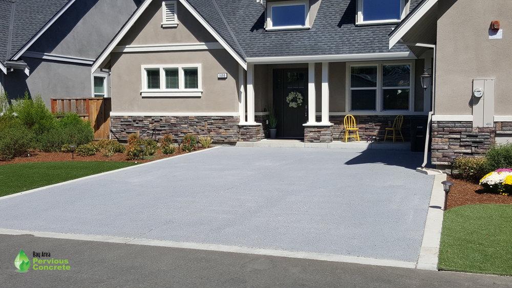 Classic Pervious Concrete Driveway- Concord, CA