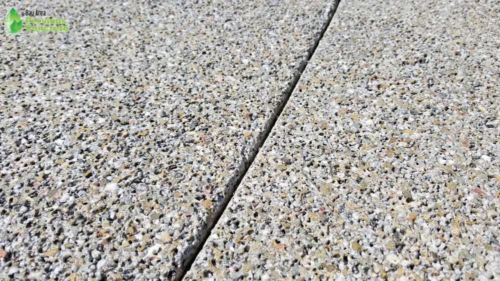Decorative Colored Polished Pervious Concrete