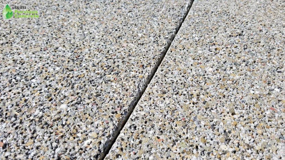 Decorative Colored Polished Pervious Concrete
