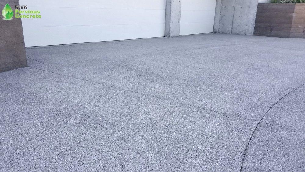 Polished Pervious Concrete Driveway - Los Altos Hills