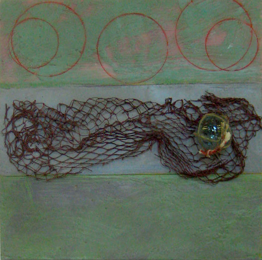What's the Lure, Encaustic by George Wright