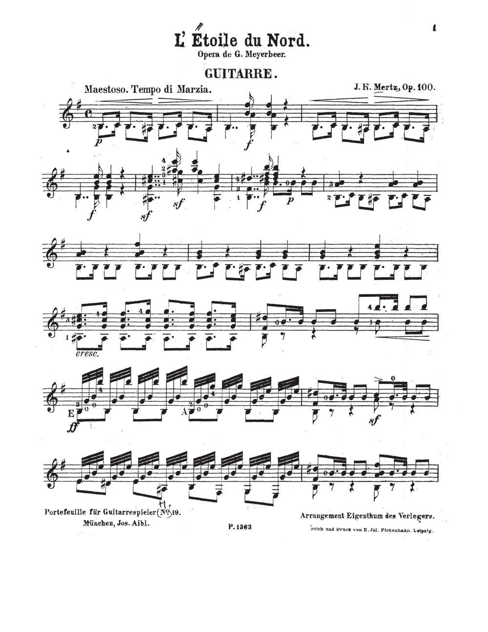 L'Étoile du Nord, Op.100 (Mertz, Johann Kaspar) 1.jpg