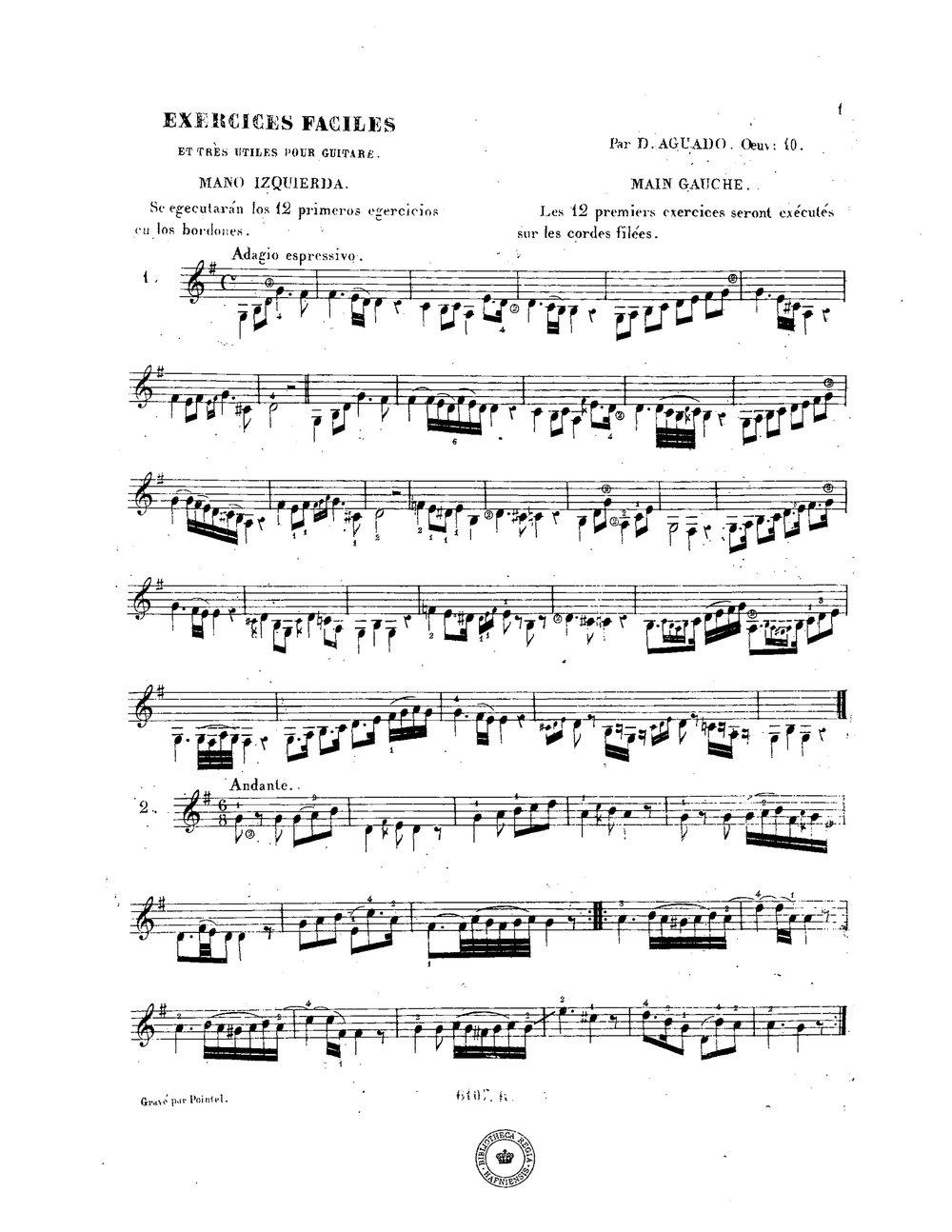 Exercices faciles et très utiles, Op.10 (Aguado, Dionisio) 1.jpg