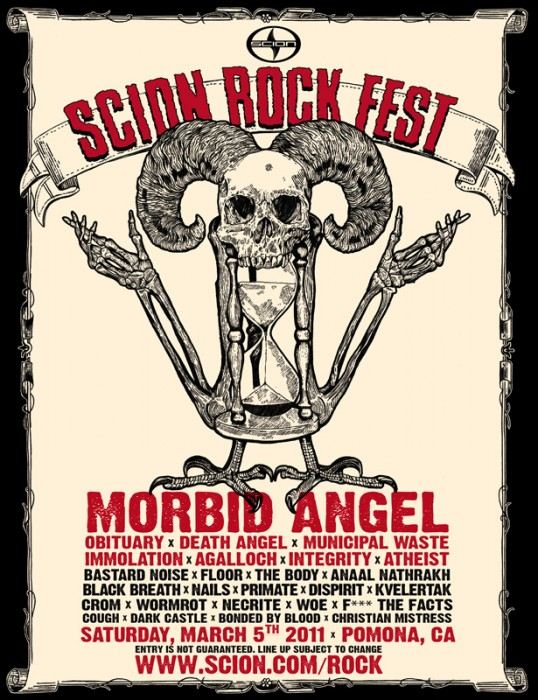 Scion 2011 Rock Fest Poster