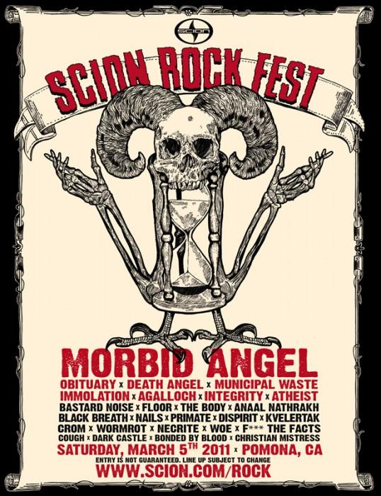 Scion 2011 Rock Fest Poster