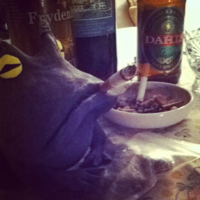 deciblog - barren womb smoke frog