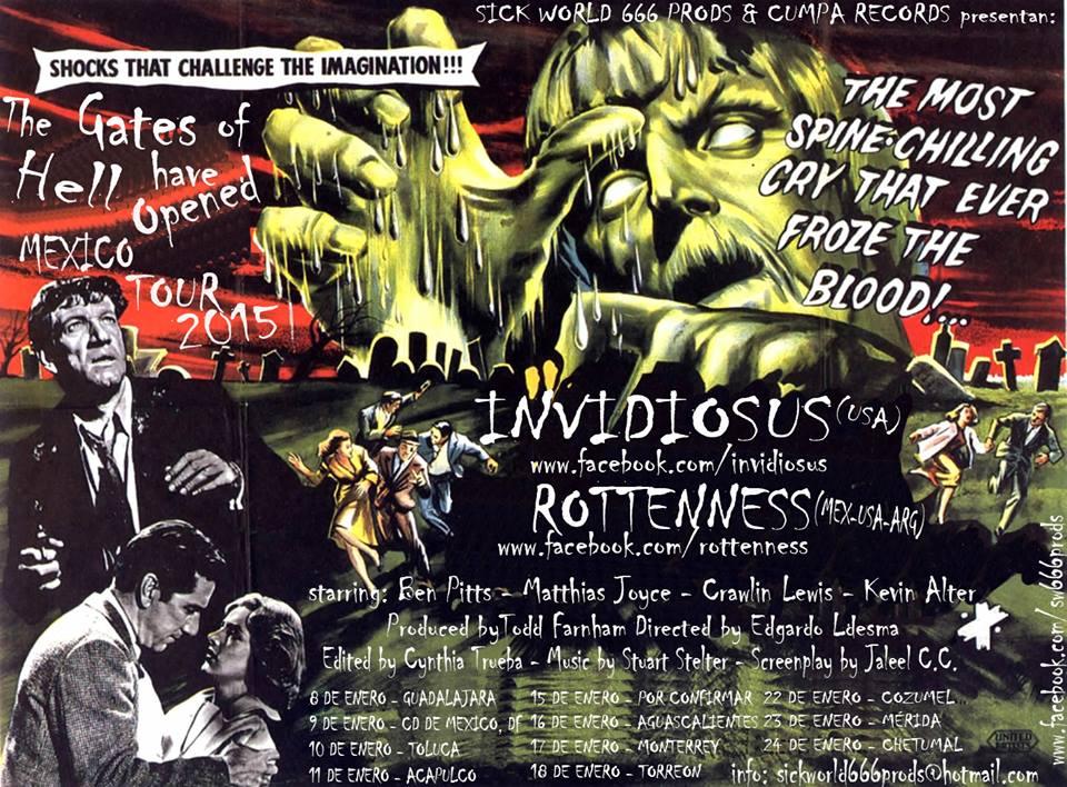 deciblog - rottenness tour poster
