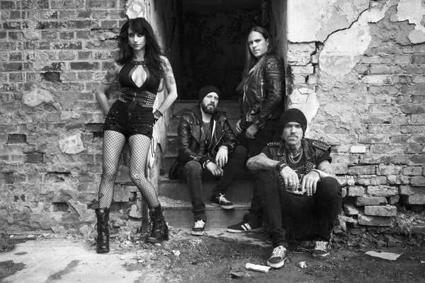 Sister Sin Band Photo Frontwoman Liv Jagrell Interview Posing for Penthouse