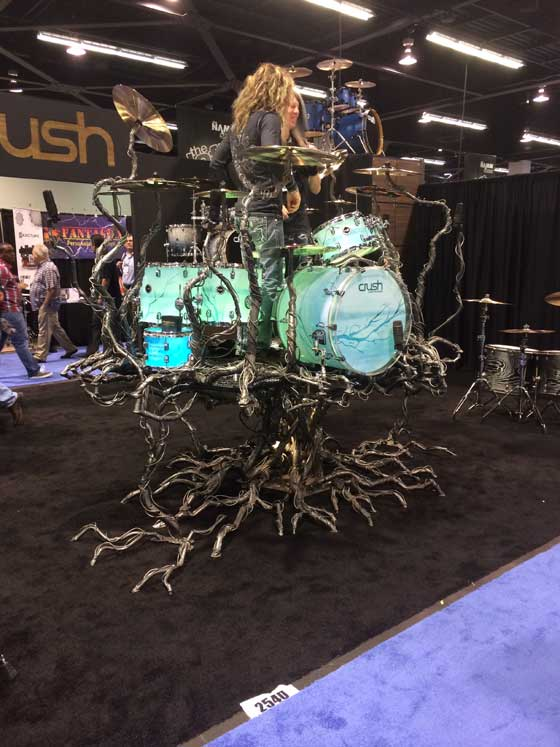 Drum Tree at NAMM