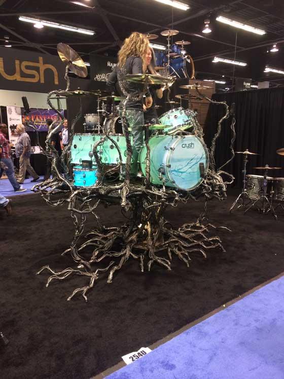 Drum Tree at NAMM