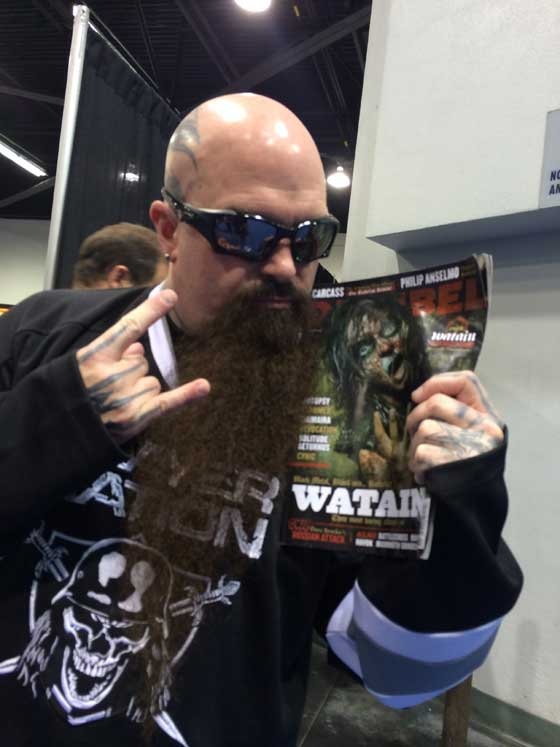 Kerry King at NAMM
