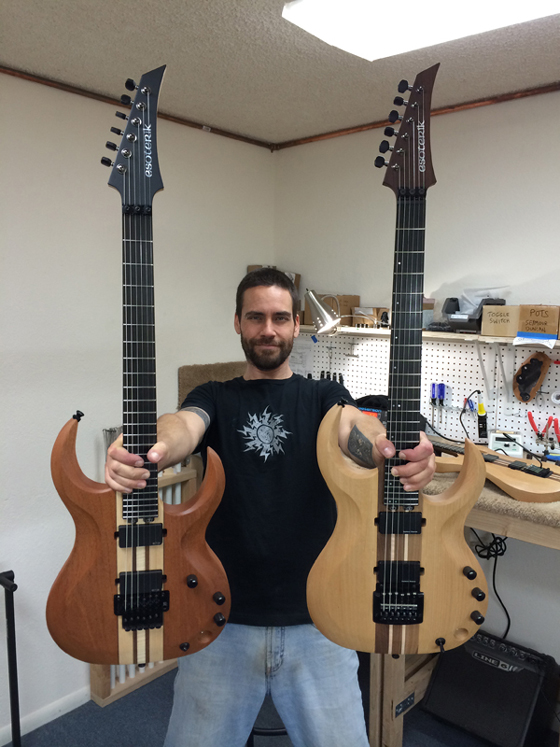 holding Esoterik guitars copy