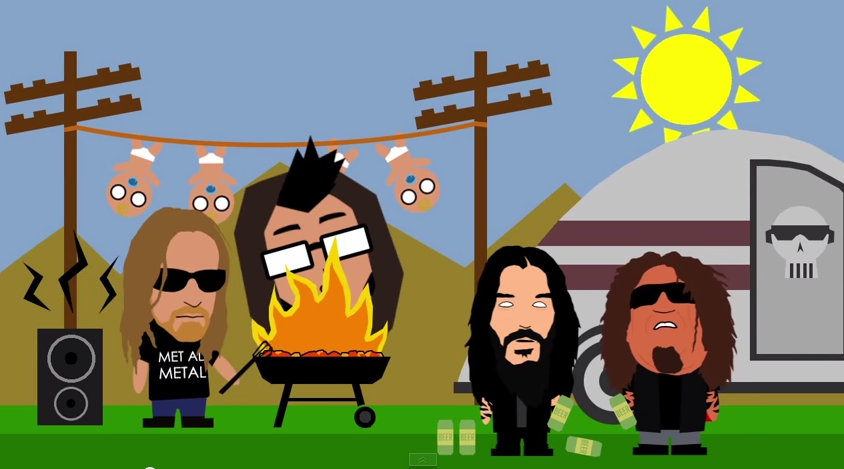 Shredhead Animated Video Premiere Slayer BBQ