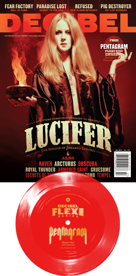Decibel Issue 129 with Lucifer and Pentagram Flexi dB055