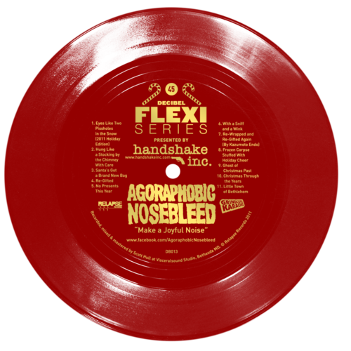 Agoraphobic Nosebleed Make a Joyful Noise EP flexi dB013