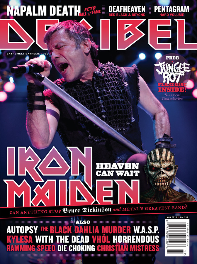 Decibel #133 - November 2015 - Iron Maiden cover