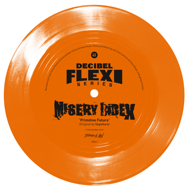"dB061 Misery Index ""Primitive Future"" (Original by Sepultura) flexi"