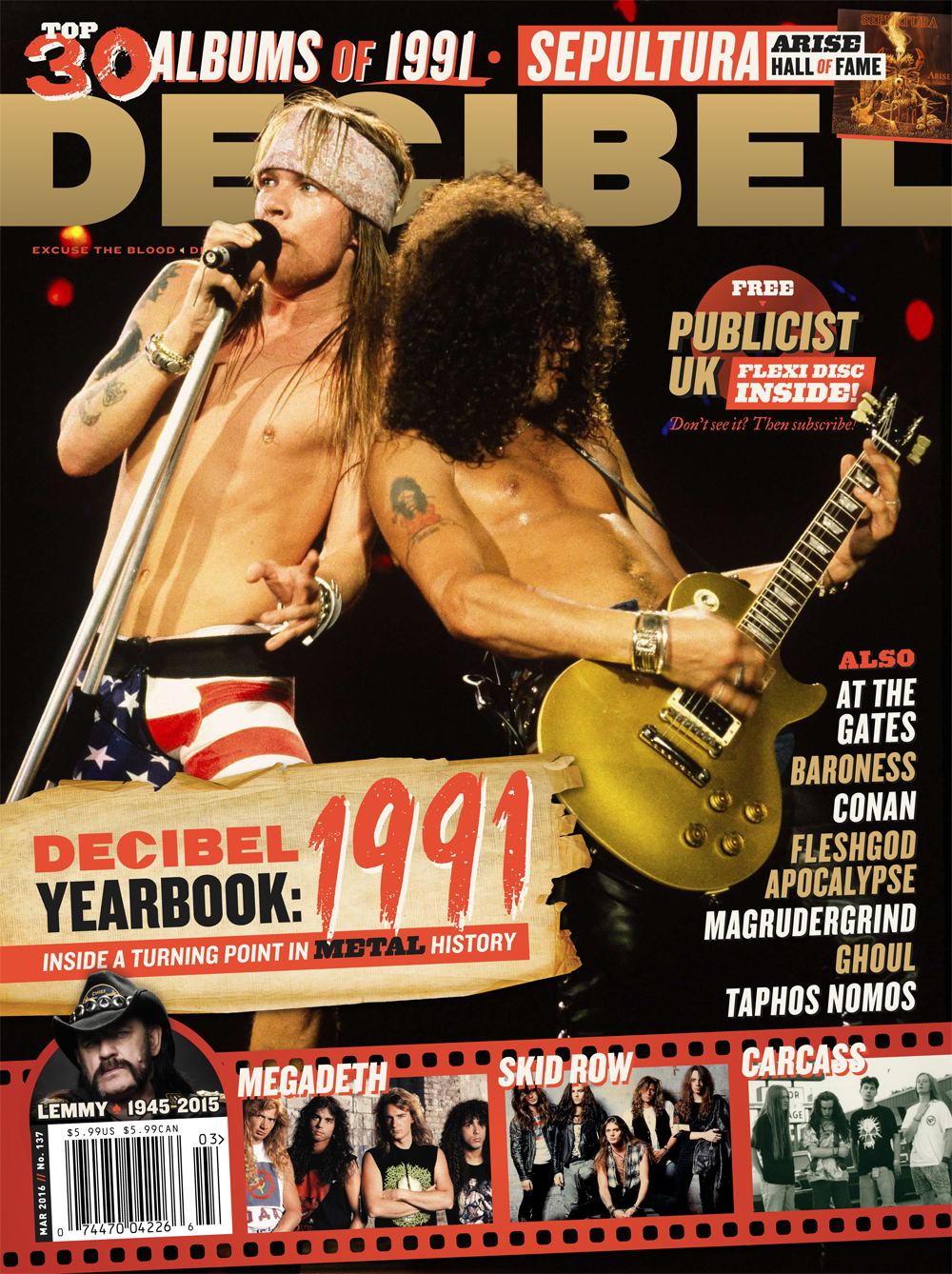 Decibel #137 - March 2016 - Decibel Yearbook: 1991