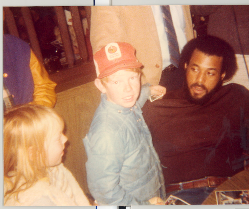 Richard with Royals' OF Willie Aikens in 1984.