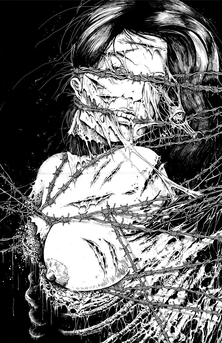 """MUMMIFIED IN BARBED WIRE"" -- MARK RIDDICK"