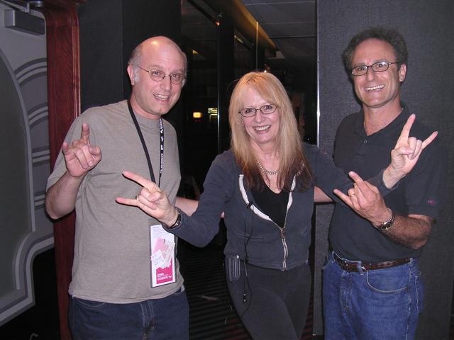 HMPL directors with the legendary director Penelope Spheeris