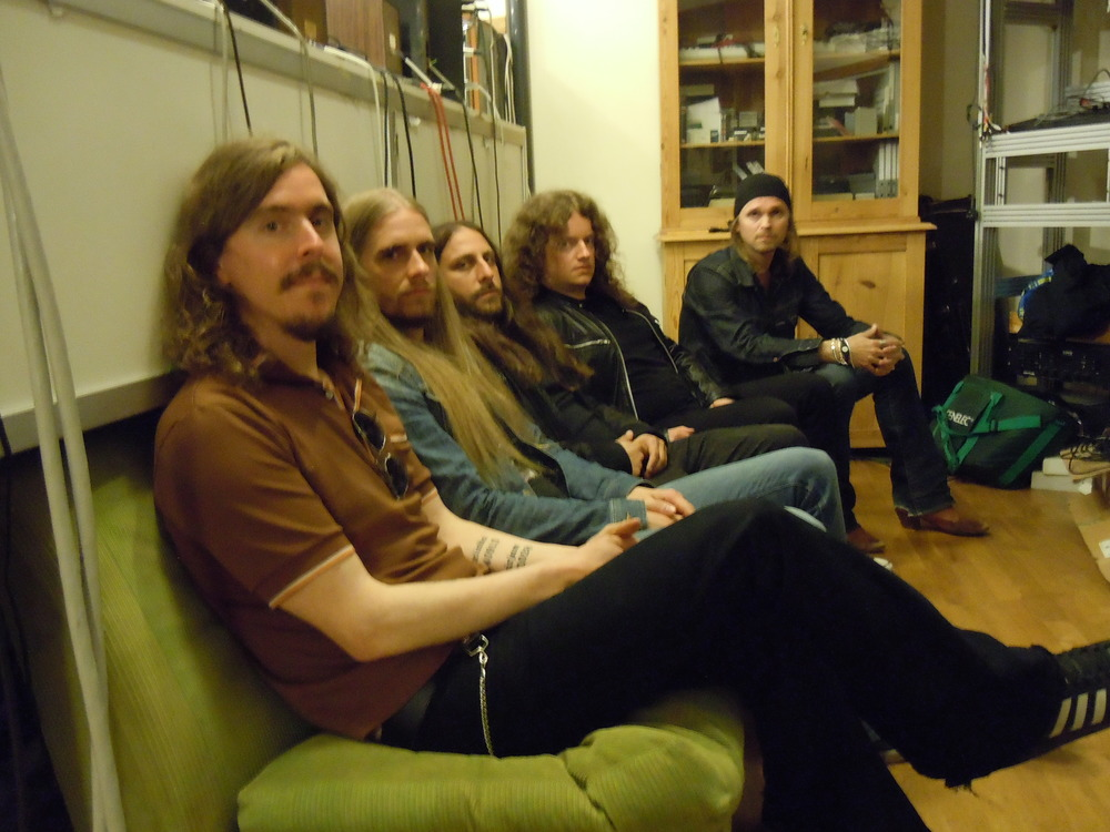 ** Opeth, circa Heritage, at Atlantis Studios, Stockholm, Sweden. Photo by Chris Dick.