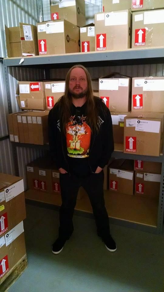 Dark Descent records mainman Matt Calvert lurking in DD HQ.