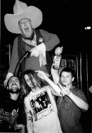 Eyehategod getting up to... well, we have no idea. But it is from this tour. (Photo by Sean Yseult)