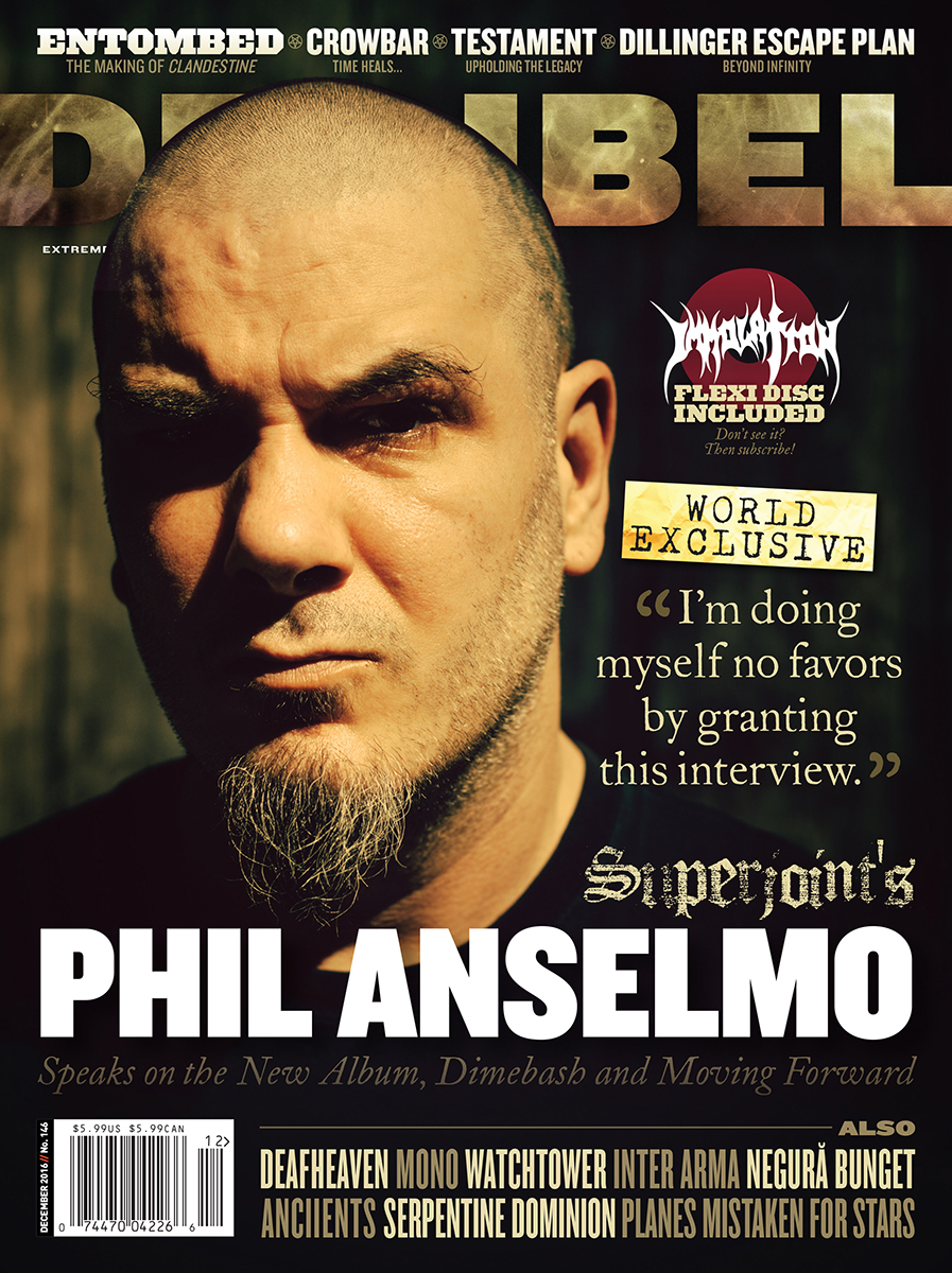 Decibel #146 - December 2016 - Superjoint's Phil Anselmo