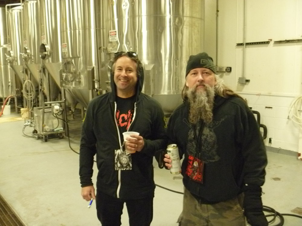 Haug (r) with 3 Floyds' Chris Boggess