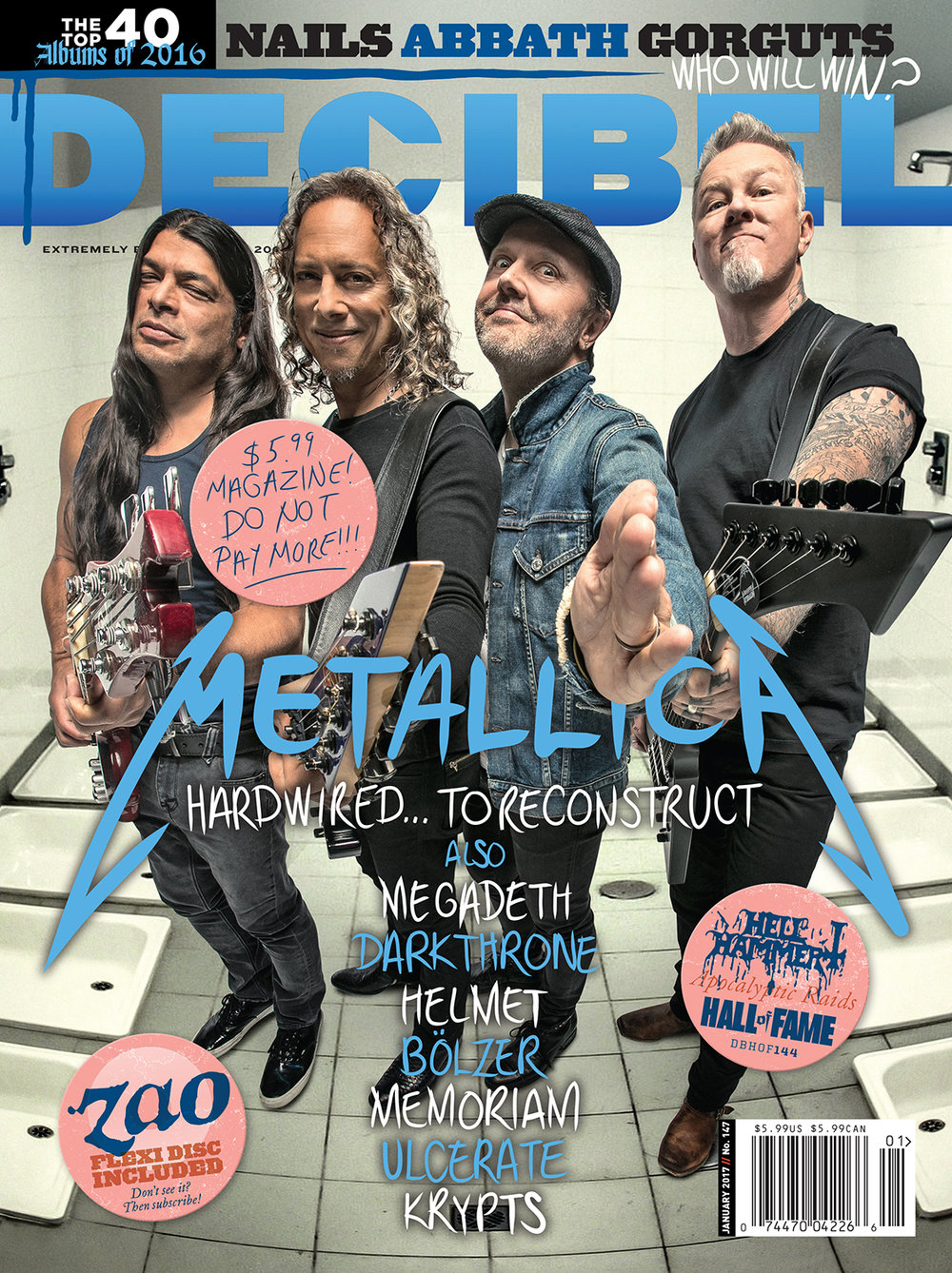 Decibel #147 - January 2017 - Metallica
