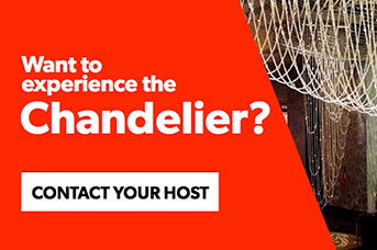 Contact your host to experience the Chandelier