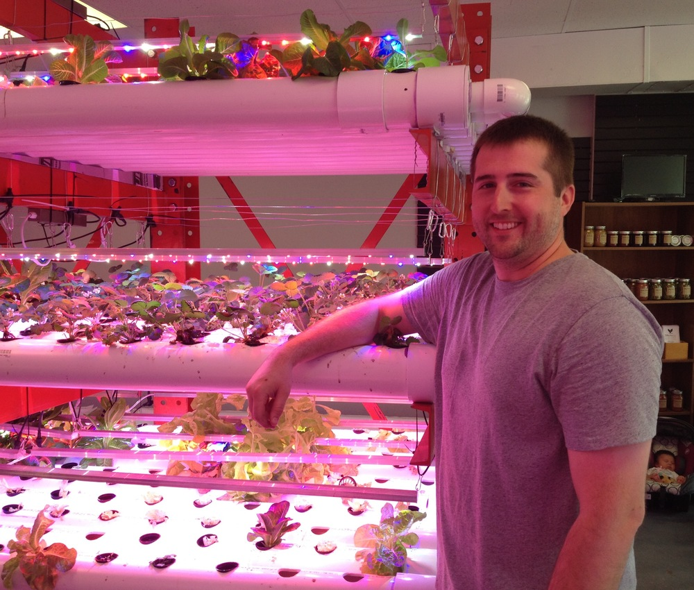Casey Miller, Farmer at Greener Portions Aquaponics