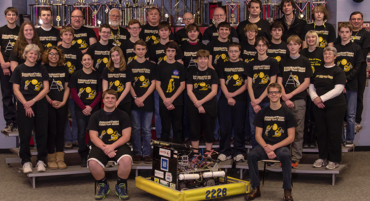 The Robotics team at Honeoye Falls High School