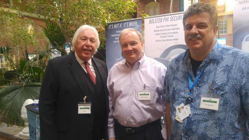 A Cybersecurity health checkup. - Thanks to Tom Faith, President of the NYS Association of Ambulatory Surgery Centers (left), for inviting Dan to educate members about Cybersecurity at the Annual Conference May 17 in Albany!