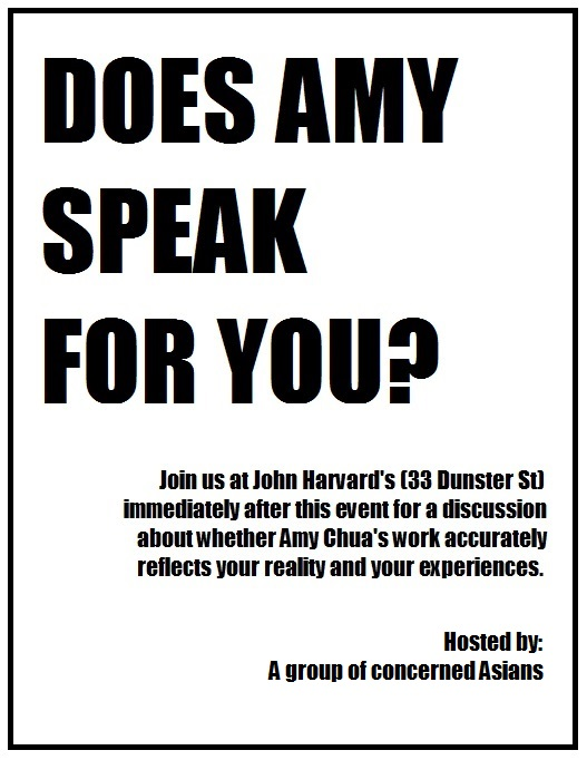 DOES AMY SPEAK FOR YOU