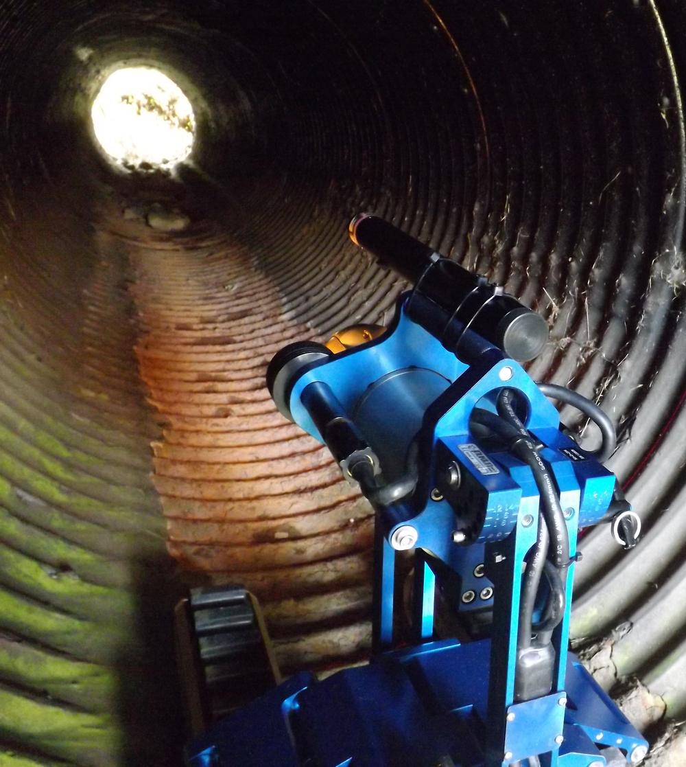 Versatrax 150 inspects a culvert