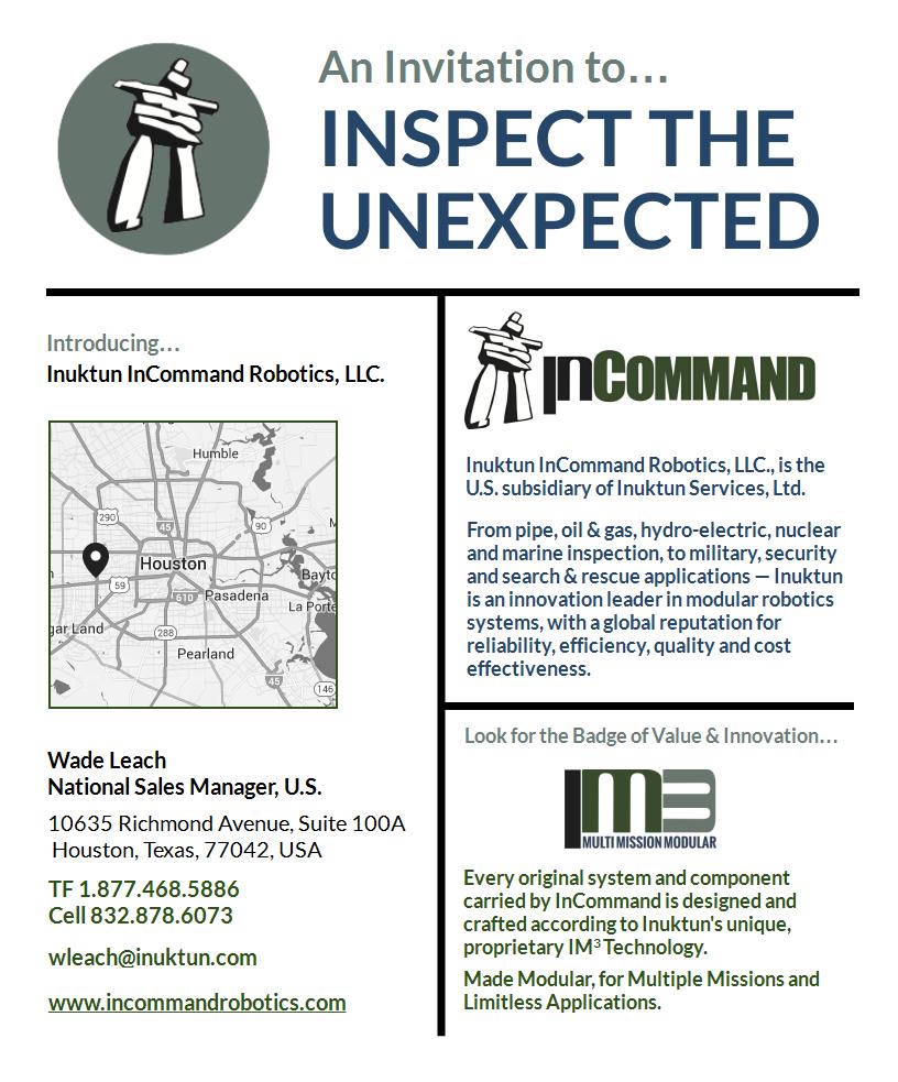 Inuktun InCommand Robotics LLC Official Launch