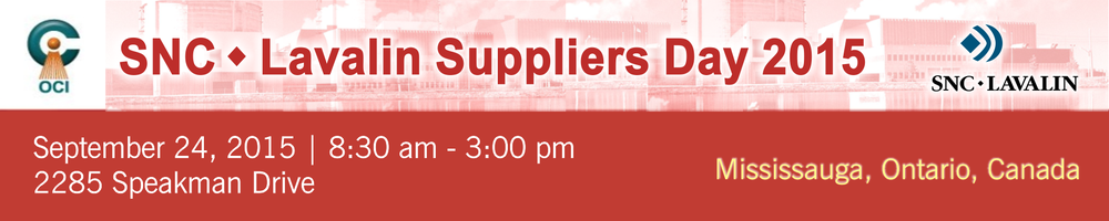 SNC Lavalin Suppliers day 2015