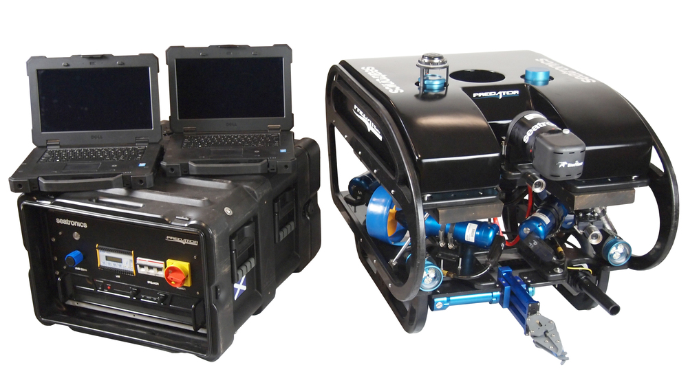Seatronics Predator ROV and laptop control with Inuktun manipulator