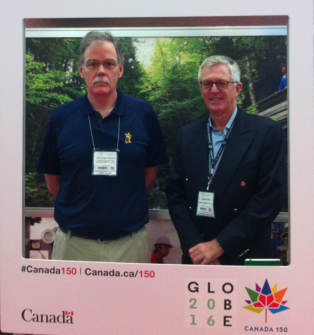 Jeff CHristopherson (left) and David Wynne (Right at Globe 2016