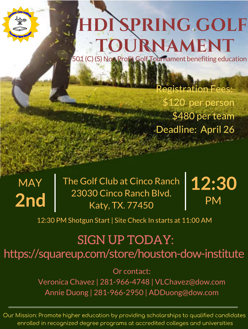 HDI Spring Golf Tournament Benefiting Education