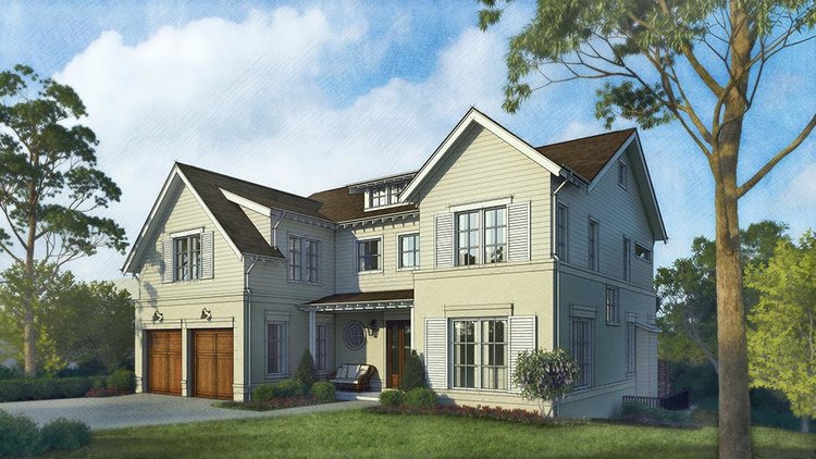 FOR SALE: 'Nantucket Contemporary' best describes this home mixing the design features of the past with the amenities of the future. - This new custom home is being built on a unique +/- 13,000 s/f lot. Boasting 6 bedrooms, and over 6000 s/f. This house has it all.
