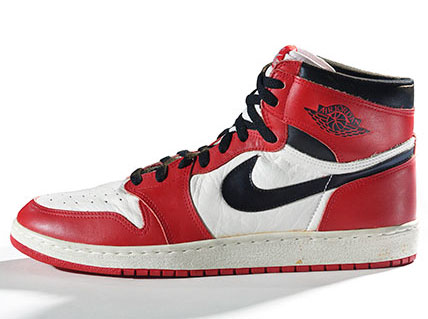 Nike. Air Jordan I, 1985. Nike Archives. (Photo: Ron Wood. Courtesy of American Federation of Arts)