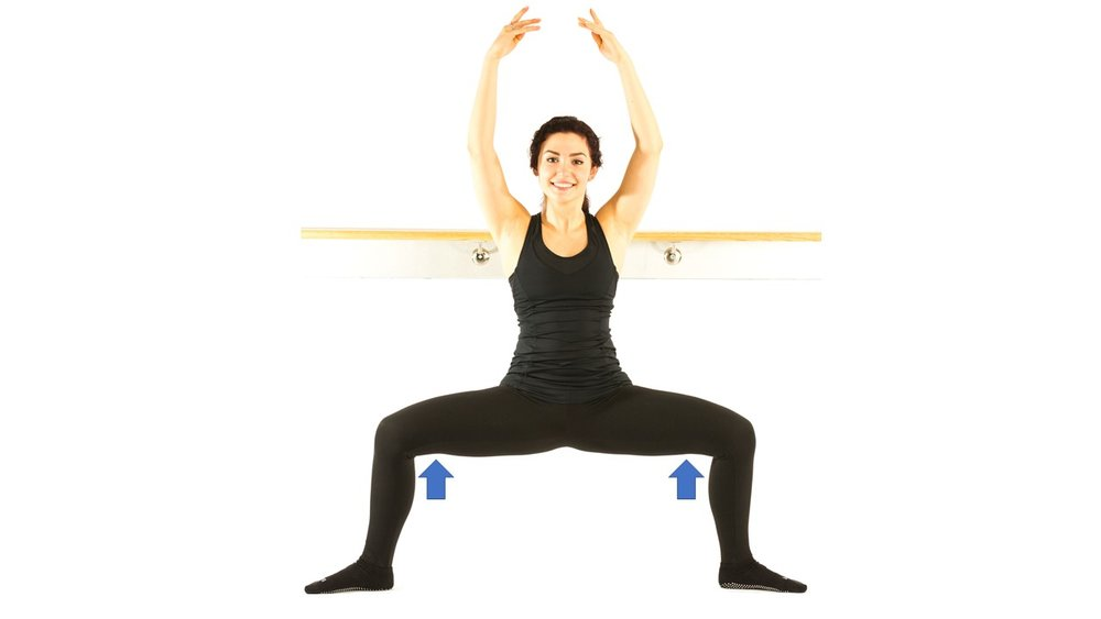 Lessoning the knee bend - The greater the knee bend the heavier the load. For some, bearing weight causes discomfort on the joints. In order to actively work the thighs without the expense of knee discomfort limiting range of motion works best.