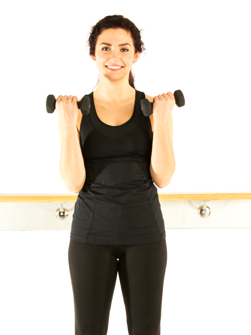 Holding elbows bent with little to no movement is an isometric contraction for the muscles.