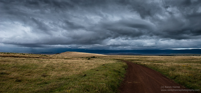 Early morning storm in the Ngorongoro Crater.  Nikon D800, 24-70 @ 24mm
